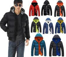 New Fashion Mens Winter parka Hooded Jacket Casual Warm Down Padded Coat Size