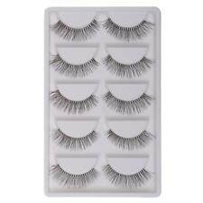 5 Pairs Long Thick Cross Natural False Eyelashes Handmade Eye Lashes