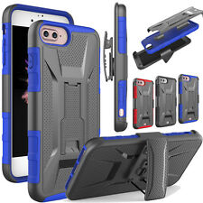 For Apple iPhone 7 7 Plus Armor Shockproof Case+Belt Clip Holster Stand Cover