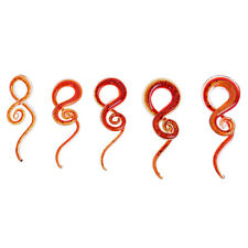 Red Spiral Flesh Tunnel Ear Stretcher Expander Stretching Plug Accessory