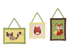 Wall Art Decor Hangings Sweet Jojo Designs for Forest Animals Baby Kid Bedding