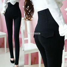 Womens High Waist Sexy Stretch Skinny Leggings Pencil Pants Slim Fit Trousers