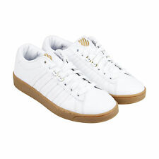 K-Swiss Hoke CMF Mens White Leather Lace Up Sneakers Shoes