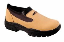Roper Mens Oiled Leather Slip On Shoes - Brown