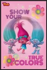 """TROLLS - FRAMED MOVIE POSTER / PRINT (SHOW YOUR TRUE COLORS) (SIZE: 24"""" x 36"""")"""
