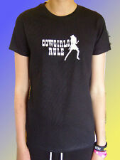 NEW FUNNY RODEO HORSE TSHIRT - Cowgirls Rule