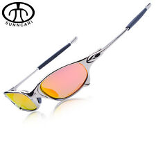 SUNNCARI Men Polarized Cycling Glasses Alloy Frame Sport Riding Eyewear CP003-5