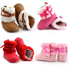 Prewalker Baby Girl Boy Winter Warm Snow Boots Toddler Infant Crib Shoes 0-18M