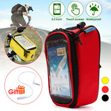 Cycling Bike Bicycle Frame Pannier Front Tube Bag Pouch Fit 5.5 Phone ROSWHEEL