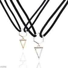 Vogue Women's Necklace Triangle Pendant Gold Silver Geometry Punk Jewelry Gifts