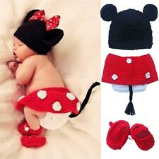 Unisex Baby Infant Newborn Knit Hat Cap Costume Photography Prop Crochet Outfits