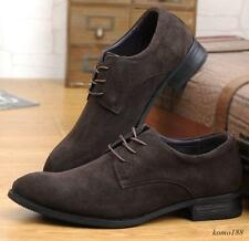 New fashion suede leather  lace up mens oxford Brogue casual dress shoes Hot SZ