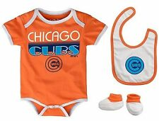 Infant Chicago Cubs Creeper Set CCandy 'Lil Player Bodysuit Bib Booties MLB Baby