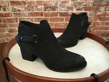 Sole Society Black Leather Angie Back Strap Ankle Boot NEW
