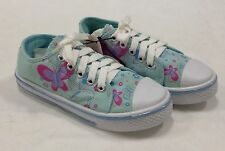 NEW GIRL'S BABY BLUE FASHION CANVAS SNEAKERS WITH BUTTERFLYS