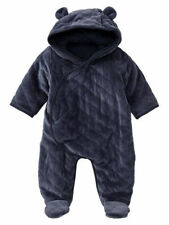 Baby Gap NWT Navy Quilted Bear Foot Romper Newborn up to 7 lbs 3-6 6-12 $45