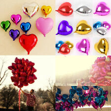 1/5/10x 18'' Heart Foil Helium Balloons For Wedding Birthday Party Engagement EW