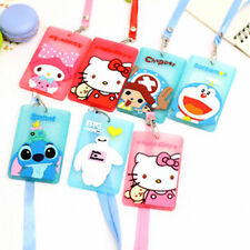 New Hellokitty Bus Card Cover Hanging School Job Id Card Passport Holder AA5a7