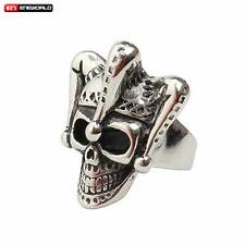 Punk Gothic Rock The Crown King Skull Stainless Steel Mens Ring Jewelry Band New