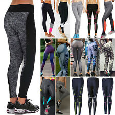 Women Yoga Running Pant High Waist Trousers Fitness Gym Clothes Workout Leggings