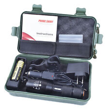 5000LM X800 Flashlight CREE XM-L T6 LED Zoomable Military Torch + Battery Lot