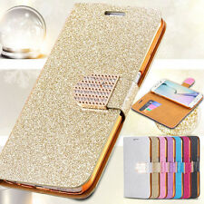 For iPhone 4S 5S 6 6 Plus Bling Glitter Flip Leather Diamond Cover Wallet Case