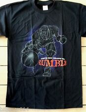 NEW Mens Lets Get Ready To Rumble Basketball Player Black T Shirt Sizes L & XL