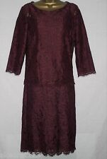 New Per Una Wine Red Lace Party Skirt Suit Cami Lace Pencil Skirt Size 10 12 14
