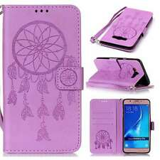 Dreamcatcher Luxury PU Leather Wallet Stand Case Cover Strap For Phones Purple