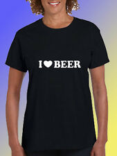 NEW FUNNY DRINKING TSHIRT - I love beer!