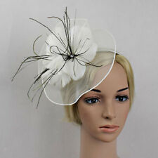 Flower Feather Fascinator Large Headband Wedding Women Races Parties Church Hat