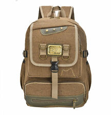 The New Men Hiking Camping Outdoor Sport Canvas Rucksack Backpack Bag