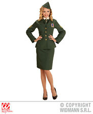 Ladies Army officer Costume for Soldier Wwii Fancy Dress Cosplay Outfit