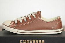 Converse Chucks All Star Dainty low Trainers Leather brown Size 35,5 UK 3