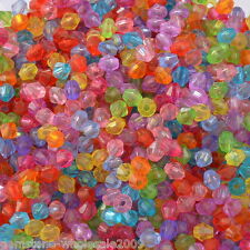 Wholesale Lots Mixed Bicone Acrylic Tiny Spacers Beads 4x4mm