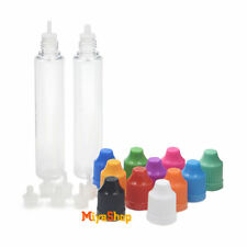 5/10/50pcs 30ml Dropper Bottle Tip Long Childproof Cap Liquid Plastic PET Empty