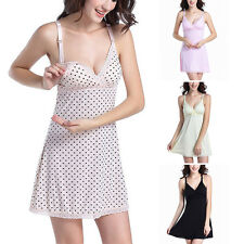 Women Maternity Nightdress Wireless Chemise Feeding Sleepwear Nightgown Pajama