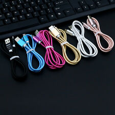 1.5m Solid Color Micro USB Data Sync Charger Cable For Samsung Android Phone Lot