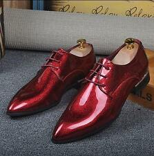 Fashion Mens Fashion Dress Formal Shoes Pointy Toe Lace Up Wedding bling Shoes