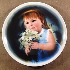 """""""For You"""" by Donald Zolan, Vintage LE Collectible Decorative Plate 1981"""