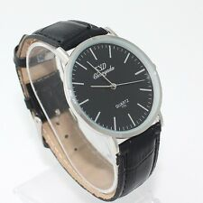 Fashion Women Girl's Boy Leather Military Casual Quartz Wristwatch Men Watch U62