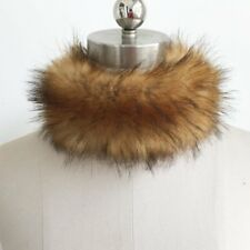 Elegant Warm Faux Fox Fur Collar Scarf Shawl Stole Soft Furry Neck Wrap Circles