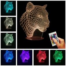 Colorful Changing LED Night Light Lamp Home Room Party Desk Decor Visual Lamp JJ