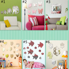 Removable Acrylic Mirror Sticker Wall Room Decor Vinyl Decal Art Mural Kids
