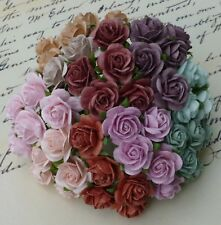 20 x 1.6cm OPEN ROSES MULBERRY PAPER FLOWERS Papercrafts & Card Embellishments