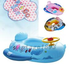 Lovely Baby Swimming Seat Ring Kids Inflatable Car Pool Float Boat Swim Ring