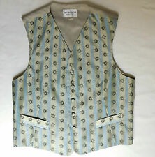 "Pronuptia Monsieur stripe waistcoat with sun motif Mens tuxedo vest L 42"" NEW"