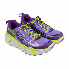 Hoka One One challenger Atr Womens Blue Synthetic Athletic Lace Up Running Shoes