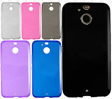 For Sprint HTC BOLT Frosted TPU CANDY Gel Flexi Skin Case Cover +Screen Guard