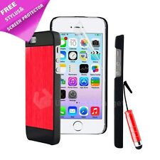 NEW DESIGN BRUSHED ALUMINIUM CASE COVER FOR IPHONE 4 4S 4G + SCREEN PROTECTOR...